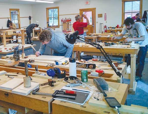 Satterlee Building bench room