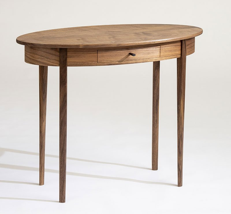Glen Gordon | Freeport, ME. Rockport Table, 2021. Walnut, maple, rosewood, tung oil. $2,100. 29