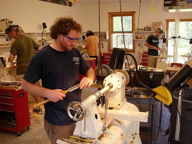 Workshop Assistant Robert McSwegin (center), 2009