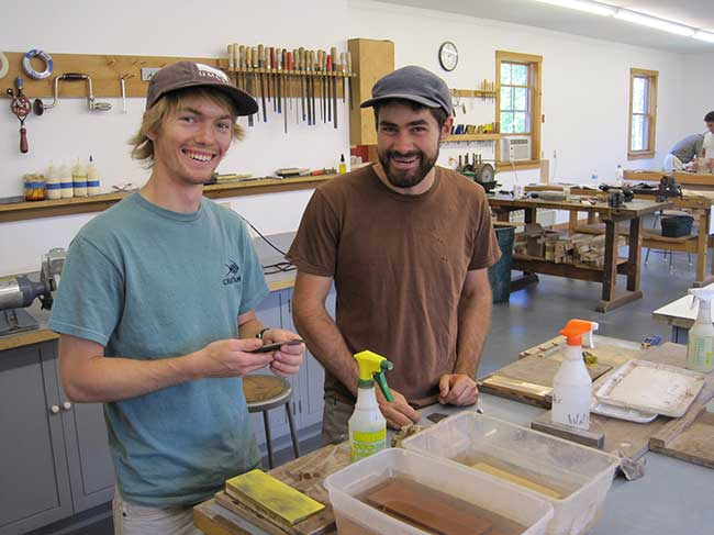 Workshop Assistants Patrick Kana (left) and Andrew Russell (right), 2012