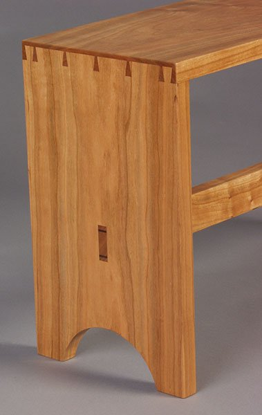 Detail of the suggested bench project for Basic Woodworking