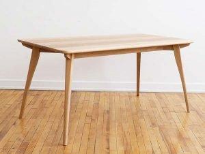 "Breakfast Table by Patrick Coughlin, white oak (60""x33""x29.25"", 2017"