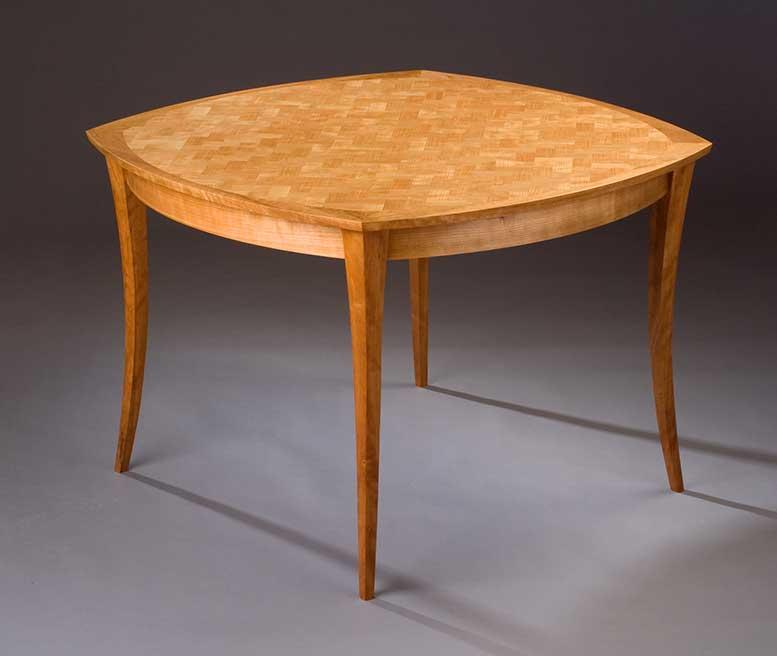 """Cuatro Amigos Table by Aaron Fedarko, cherry (42""""x42""""x29""""), 2008"""