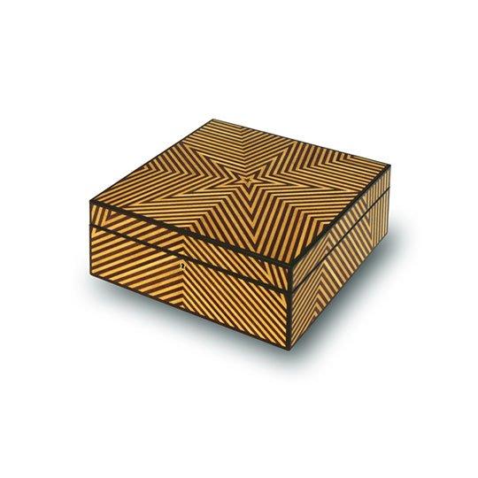 "Star Box by Adrian Ferrazzutti, pau amarillo, wenge, and ebony (8""x8""x4""), 2000"