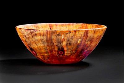 "Norfolk Island pine bowl by Rudy Lopez (18""dia.), 2017"
