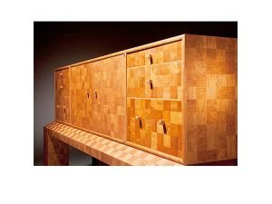 """2700 Squares by Brian Reid, cherry, maple, and Alask yellow cedar (71""""x22""""x34""""), 2009"""
