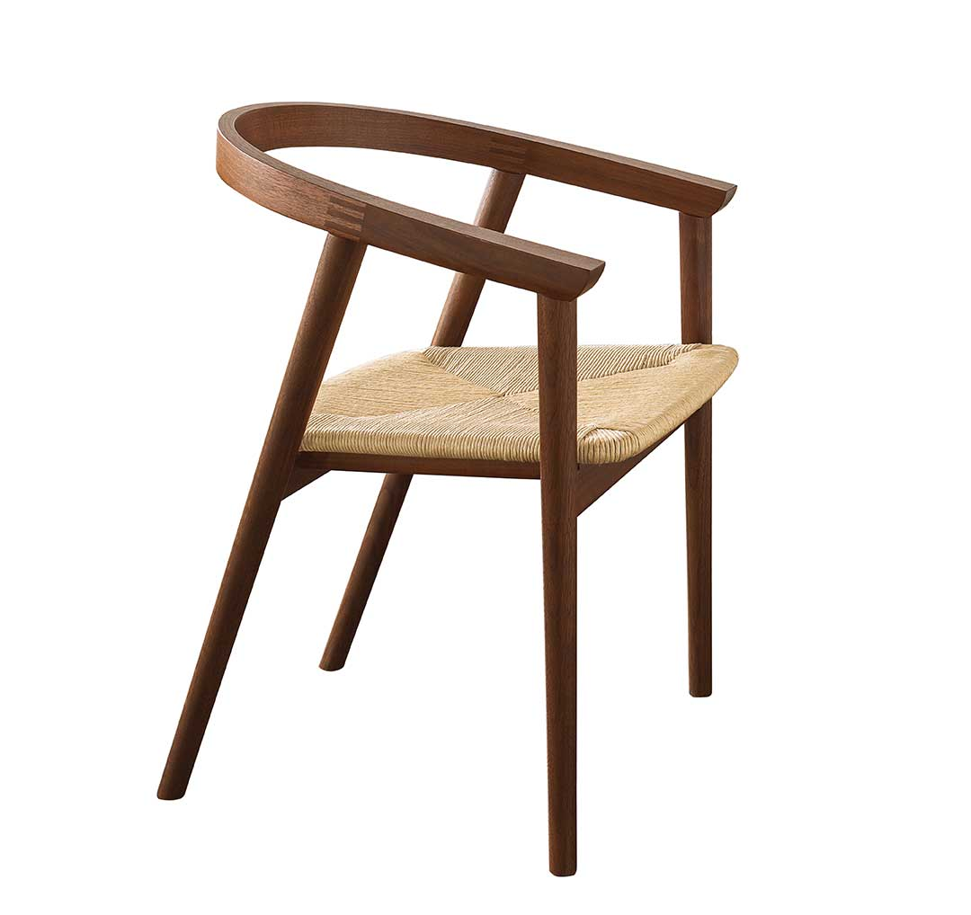 """Cumberland Chair, designed by Adam Rogers for Thos. Moser, walnut and rush (23""""x21""""x29""""), 2014"""