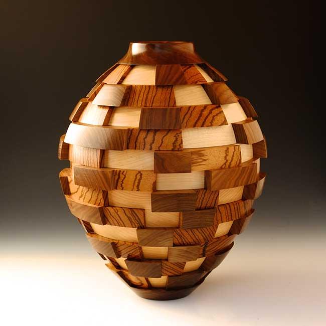 John Beaver Pacific Palisades, California. 3D Blocks, 2016. Walnut, zebrawood, maple, laquer finish. $2,800. 10