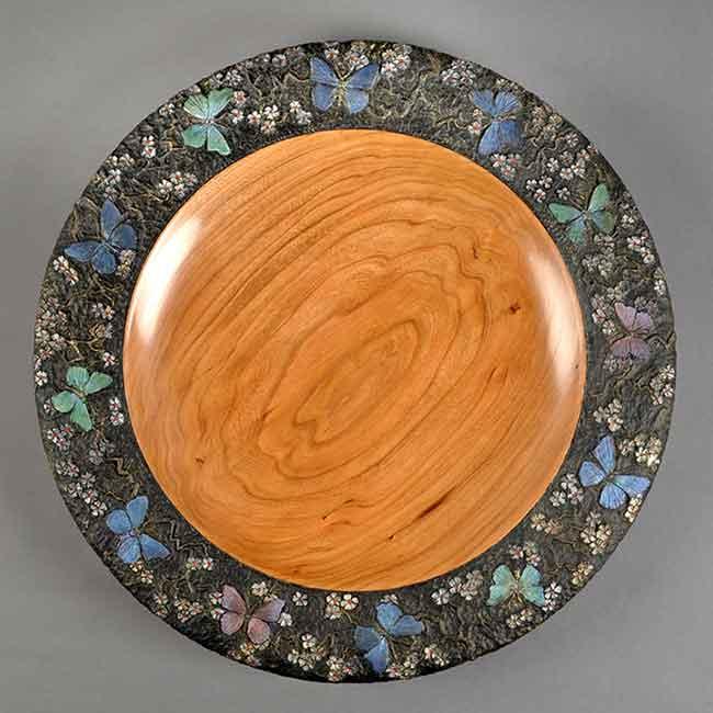 Jim Christiansen Moscow, Idaho. Joy, 2016. Cherry, acrylic paint, poly varnish. $1,600. 1
