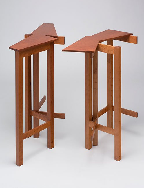 Duane Paluska Woolwich, Maine. End Tables, 2014. Cherry, oil finish. $3,600. 32