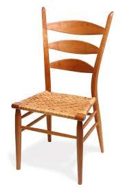 "Brian Boggs Asheville, NC. Berea Ladderback Chair, 1999. Red oak, hickory bark. 39"" x 20"" x 19.5""."