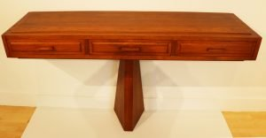 """Tage Frid 1915 - 2004. Sideboard, Mid-1960s. Walnut. 35.5"""" x 60"""" x 18"""". Courtesy of Mrs. Ann Frid Randall."""