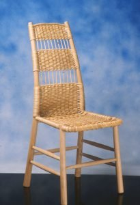 """Tom Kealy  Somerset, UK. Somerset Sidechair, 1987. Ash, willow. 39"""" x 18"""" x 19"""". Courtesy of Center for Art in Wood, Philadelphia, PA."""