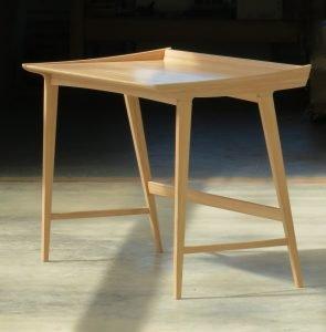 "Tim Rousseau Rockport, ME. Penobscot Bay Desk, 2021. Hard maple, rosewood. 31"" x 40"" x 24"". $5,800."